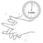 Laver-mains 2 min